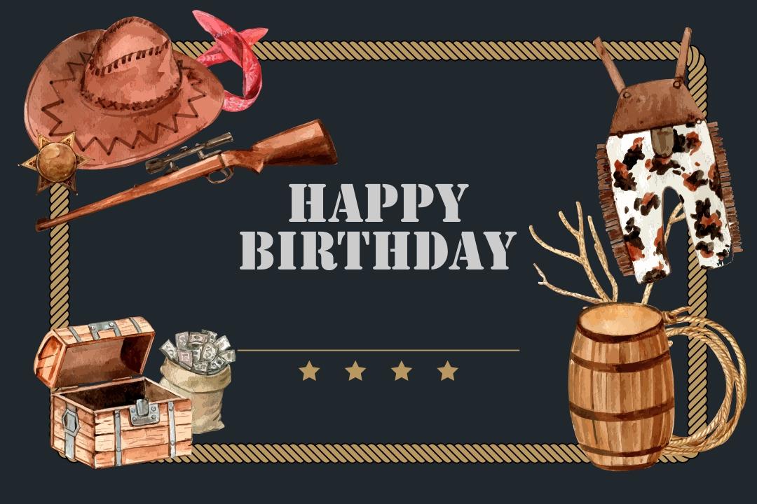 Western Cowboy Birthday Cards