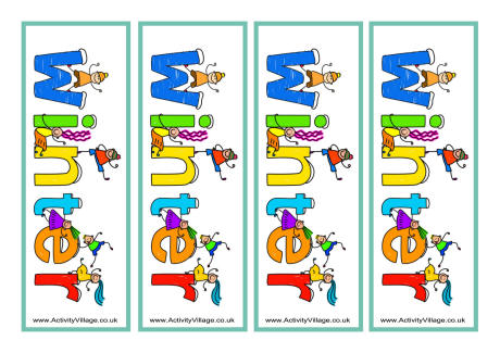 8 Images of Printable Winter Bookmarks For Kids