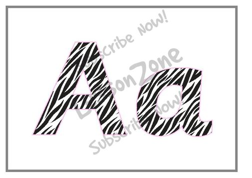 9 Images of Zebra Prints Letters Printables