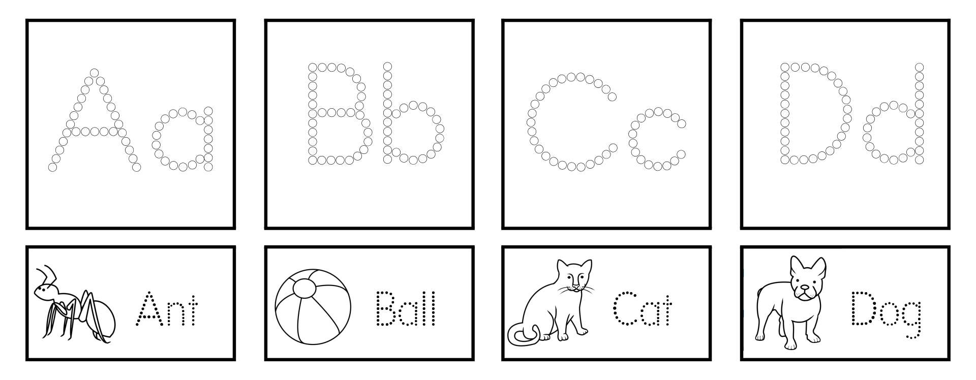 ABC Q-Tip Painting Printables