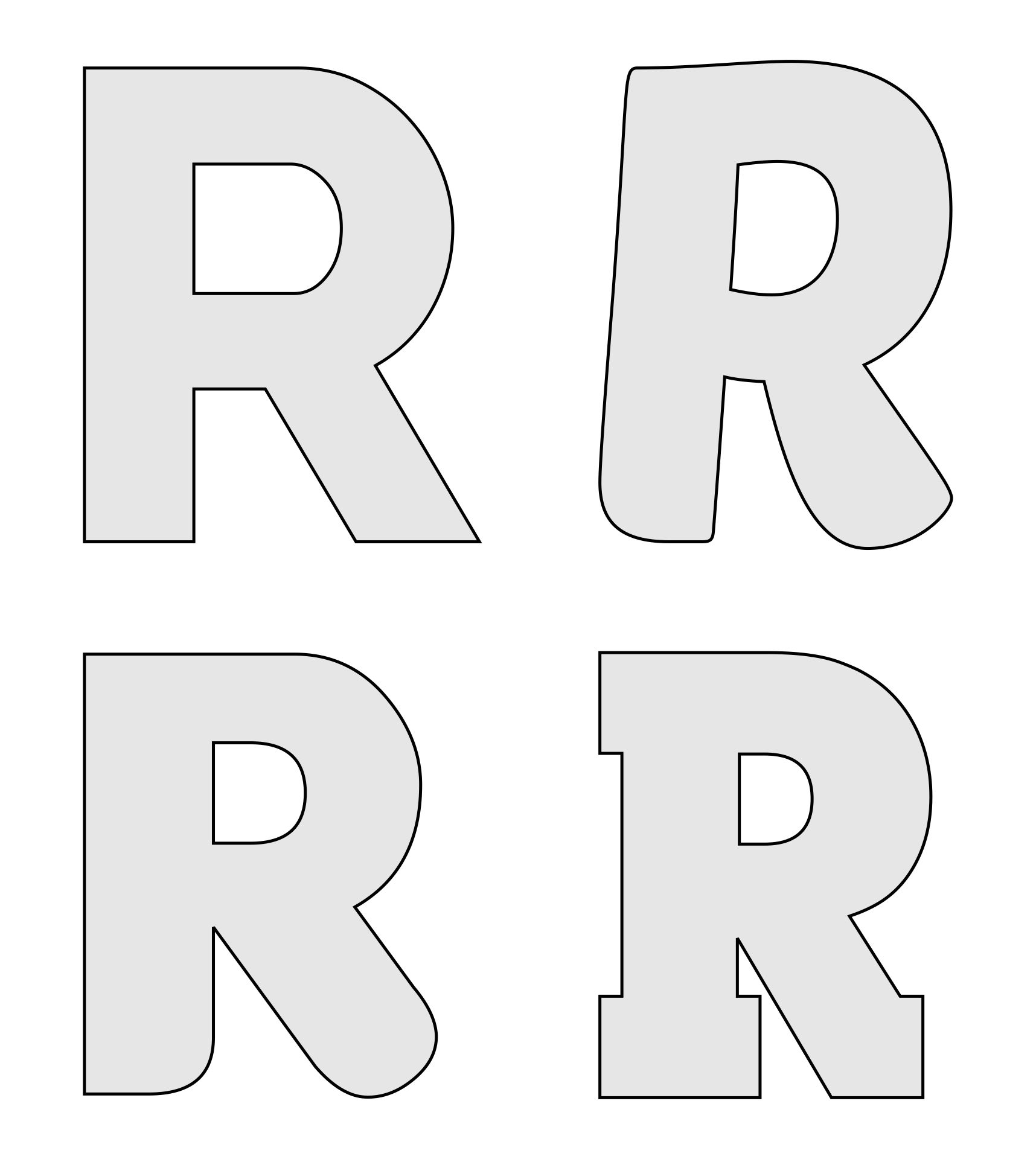 8 Best Images Of Letter R Template Printable Free