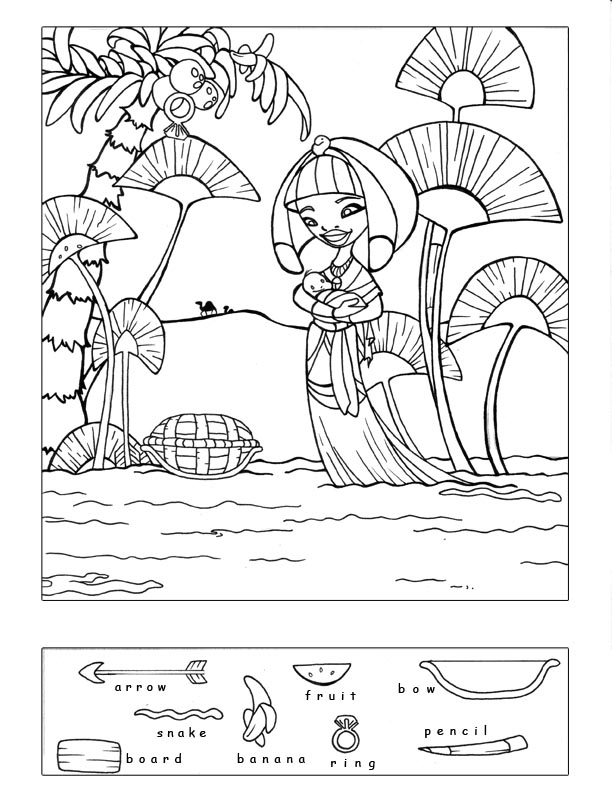 4 Images of Baby Moses Crossword Puzzle Printable