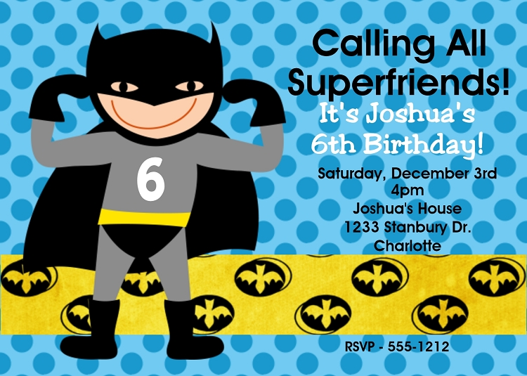 Batman Birthday Party Printables