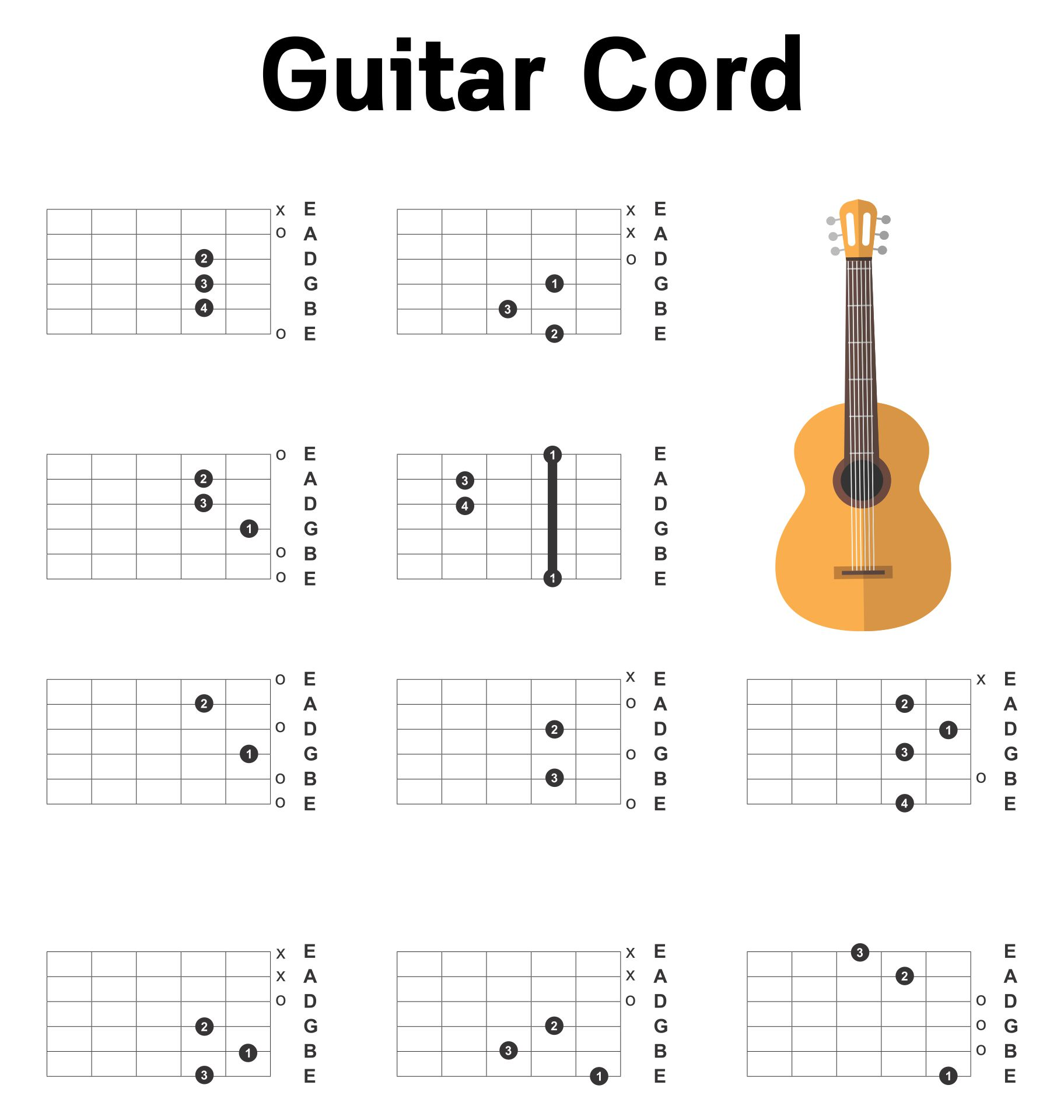 Blank Guitar Chord Boxes