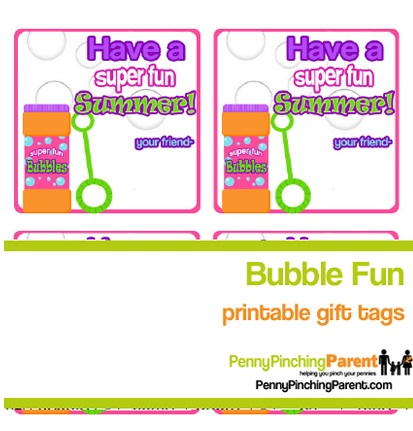 4 Images of Printable Tags Bubble Summer