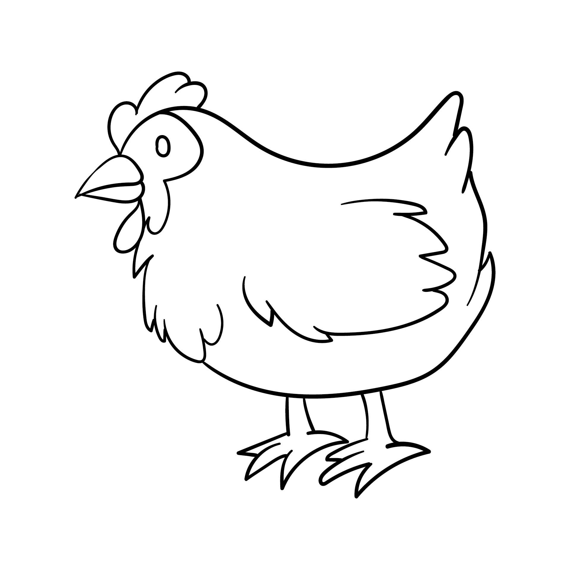 Chicken Stencil Template