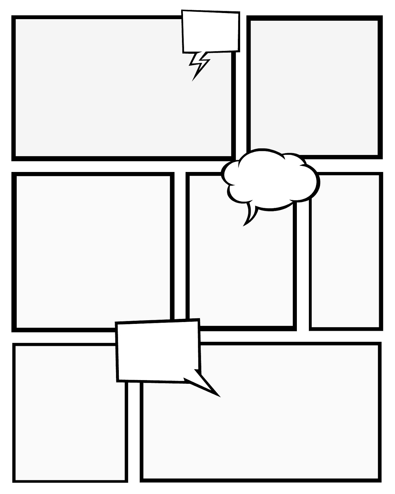 5 Images of Comic Strip Templates Printable Free