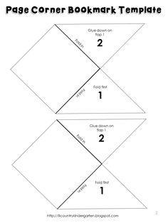 Corner Bookmark Template Printable