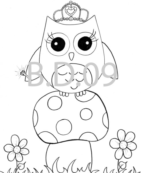 7 Images of Cute Paper Owl Printable Coloring
