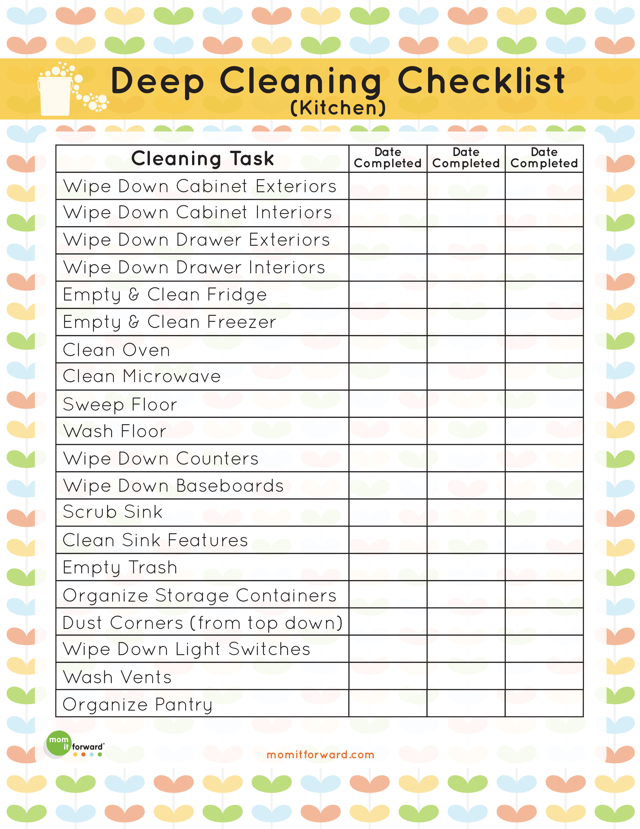 8 Images of Deep Cleaning Checklist Printable