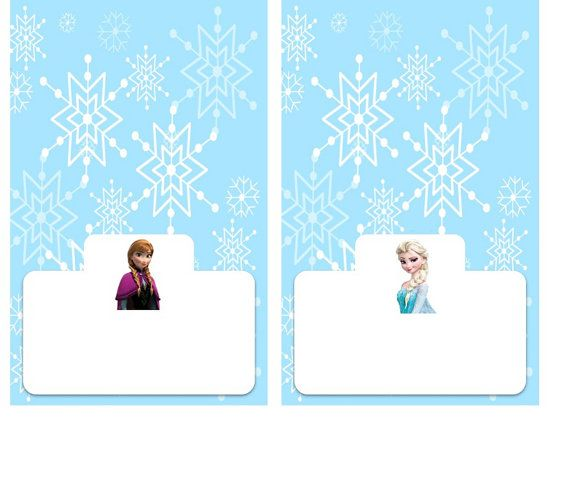 8 Images of Frozen Party Food Tent Label-Free Printables