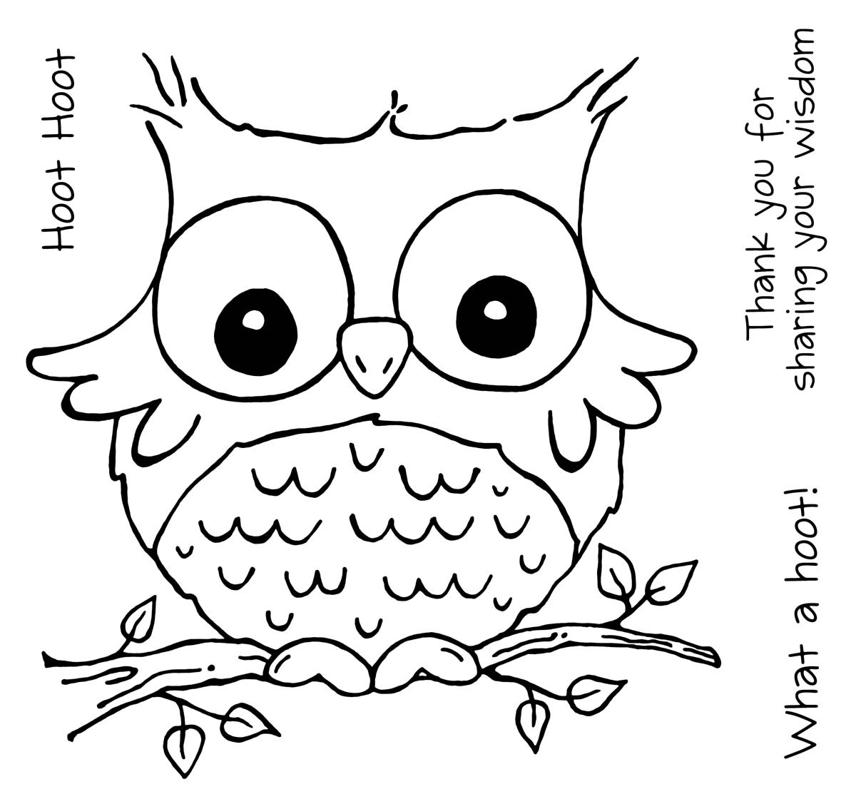 7 Best Images of Cute Paper Owl Printable Coloring - Cute ...