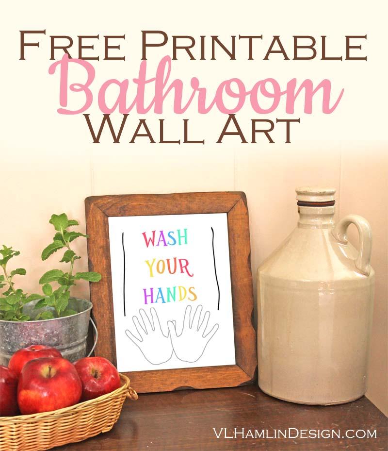 Free Bathroom Printables Wall Art