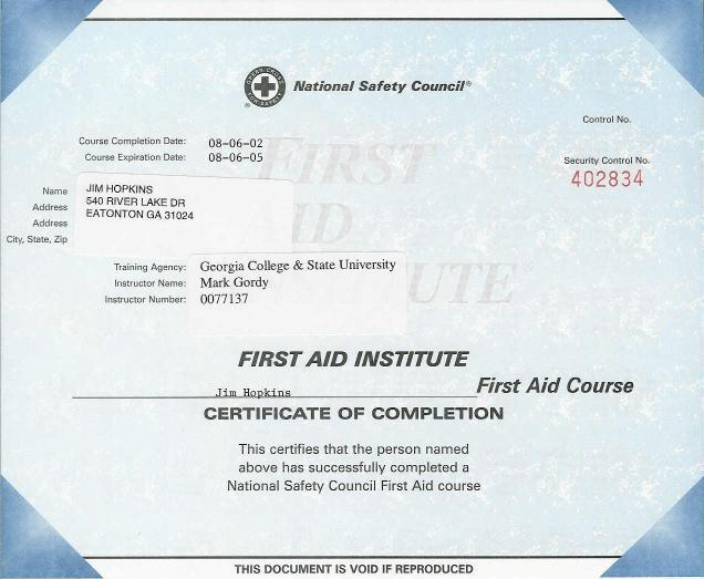 first aid certificate template free - 4 best images of free printable first aid certificate