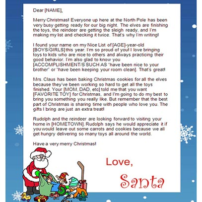 8 Images of Letters From Santa Free Printable