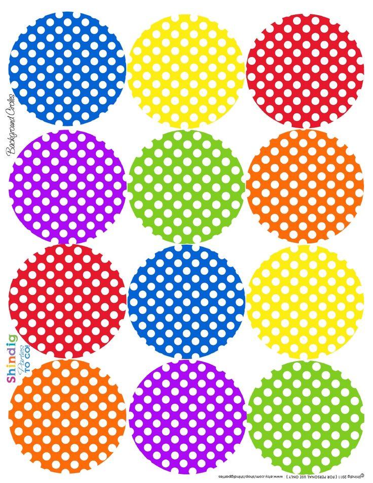 5 Images of Polka Dot Circle Printables