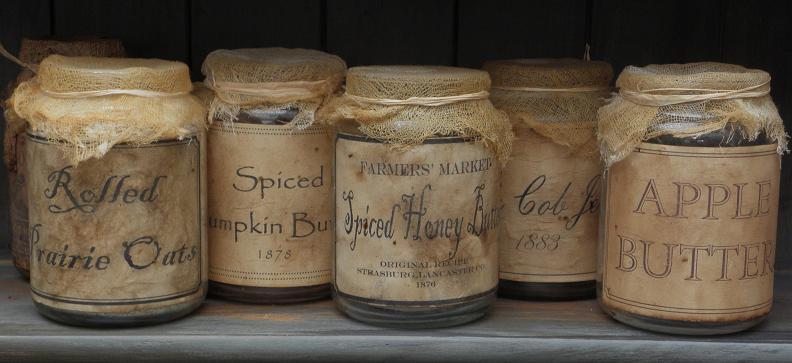 Primitive Jar Label Templates