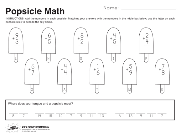 Free Math Worksheet For 1st Grade Scalien – Free Math Worksheets Printable