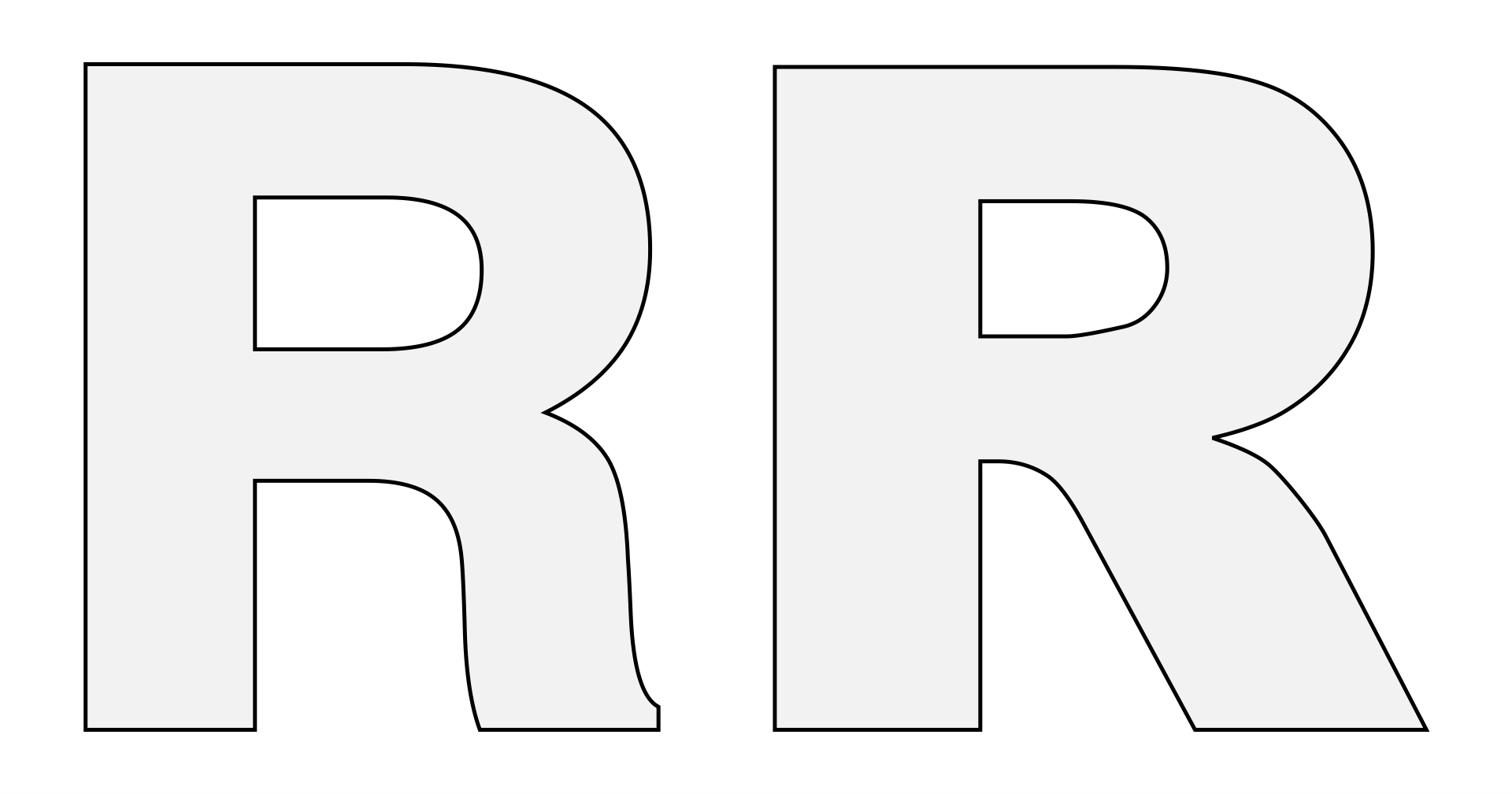 8 Images of Letter R Template Printable