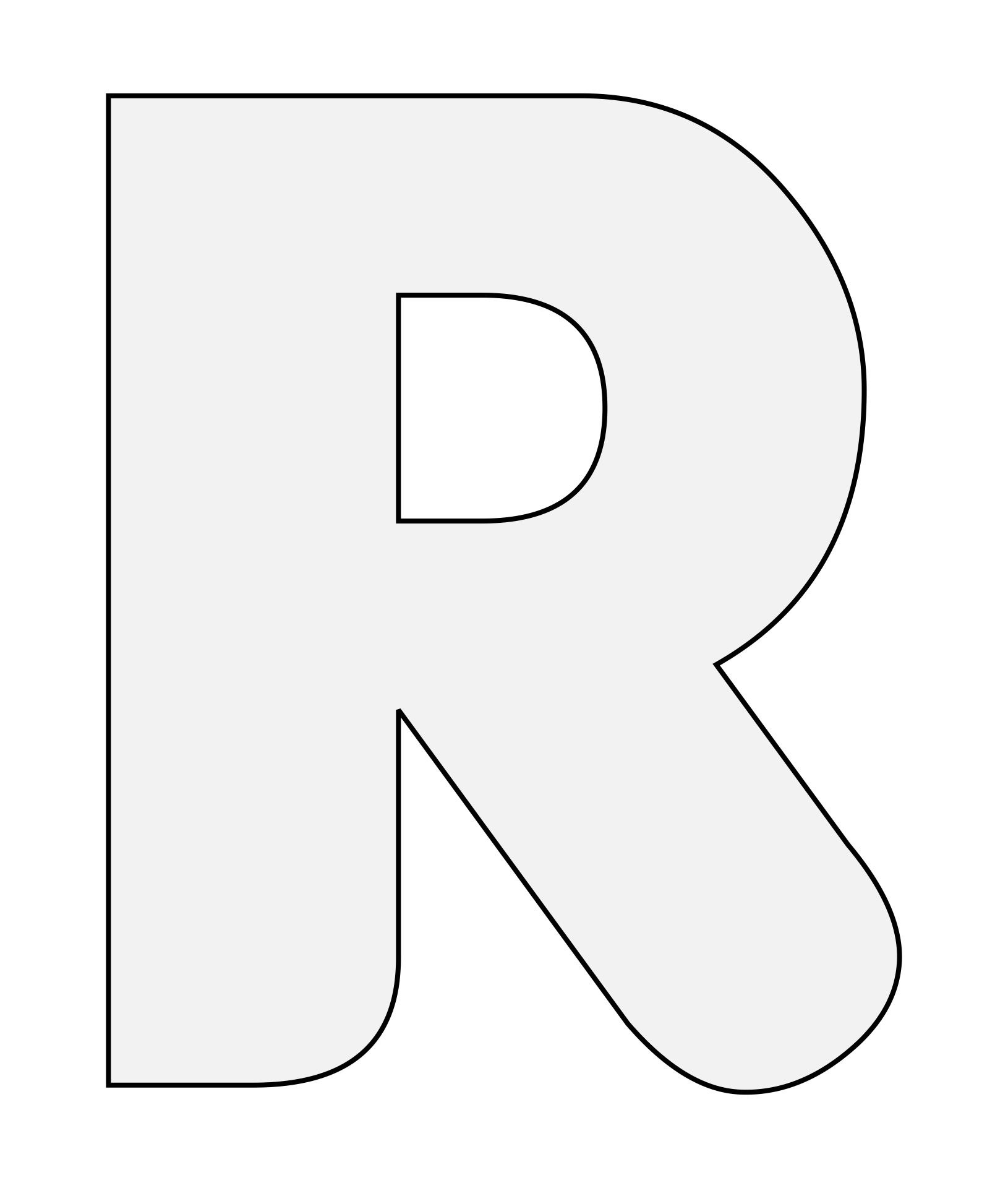 Printable Alphabet Templates Letter R