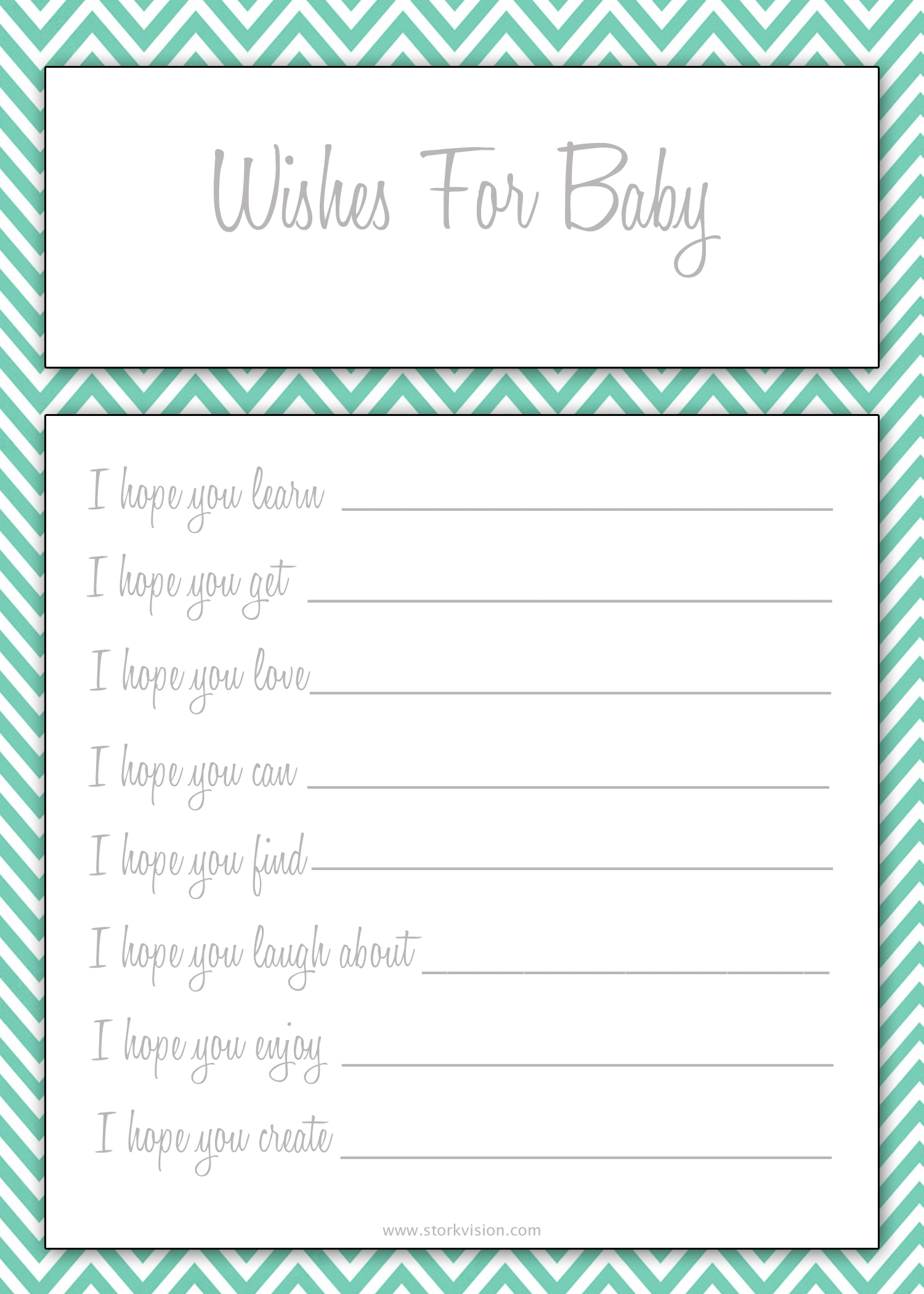 5 Images of Free Printable Baby Wishes Cards