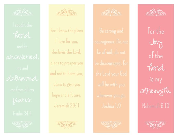 6 Images of Free Printable Scripture Bookmarks