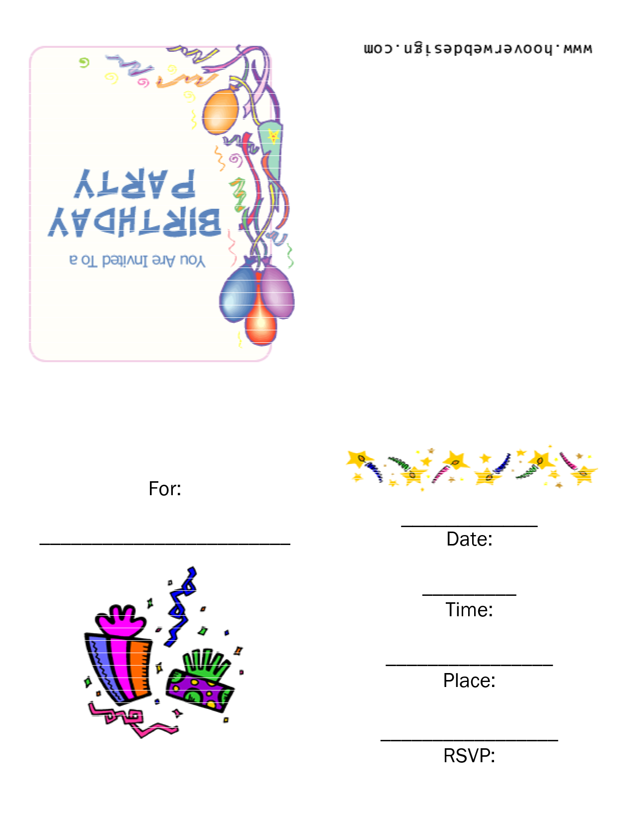9 Images of Free Printable Birthday Party Templates