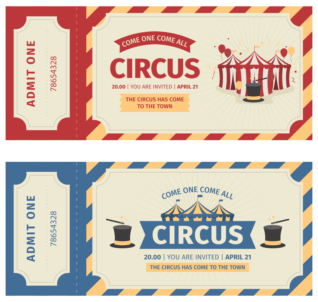 Printable Carnival Ticket Templates