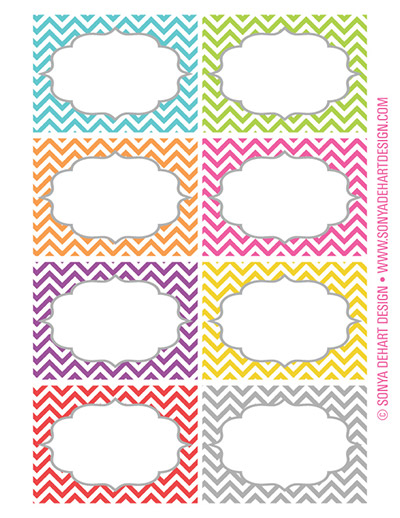 7 Images of Printable Chevron Labels
