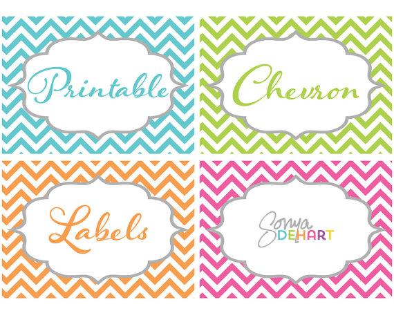 Free Printable Chevron Labels