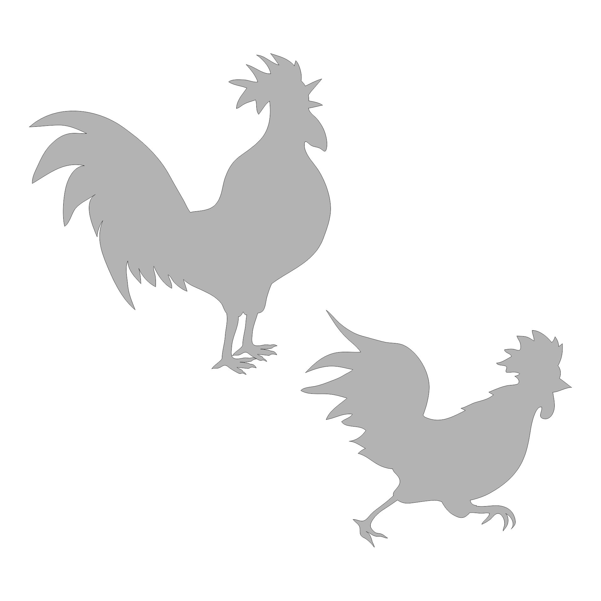 9 Images of Chicken Stencils Free Printable