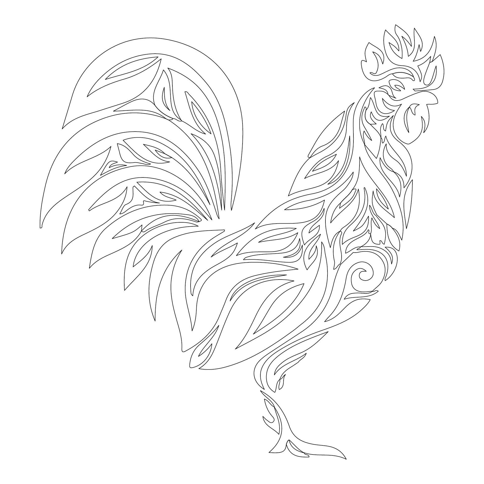 Printable Chicken Stencils