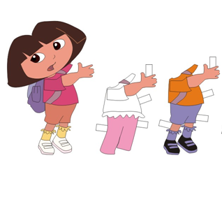 4 Images of Free Printable Paper Dolls Dora