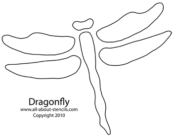 Free Printable Dragonfly Stencil