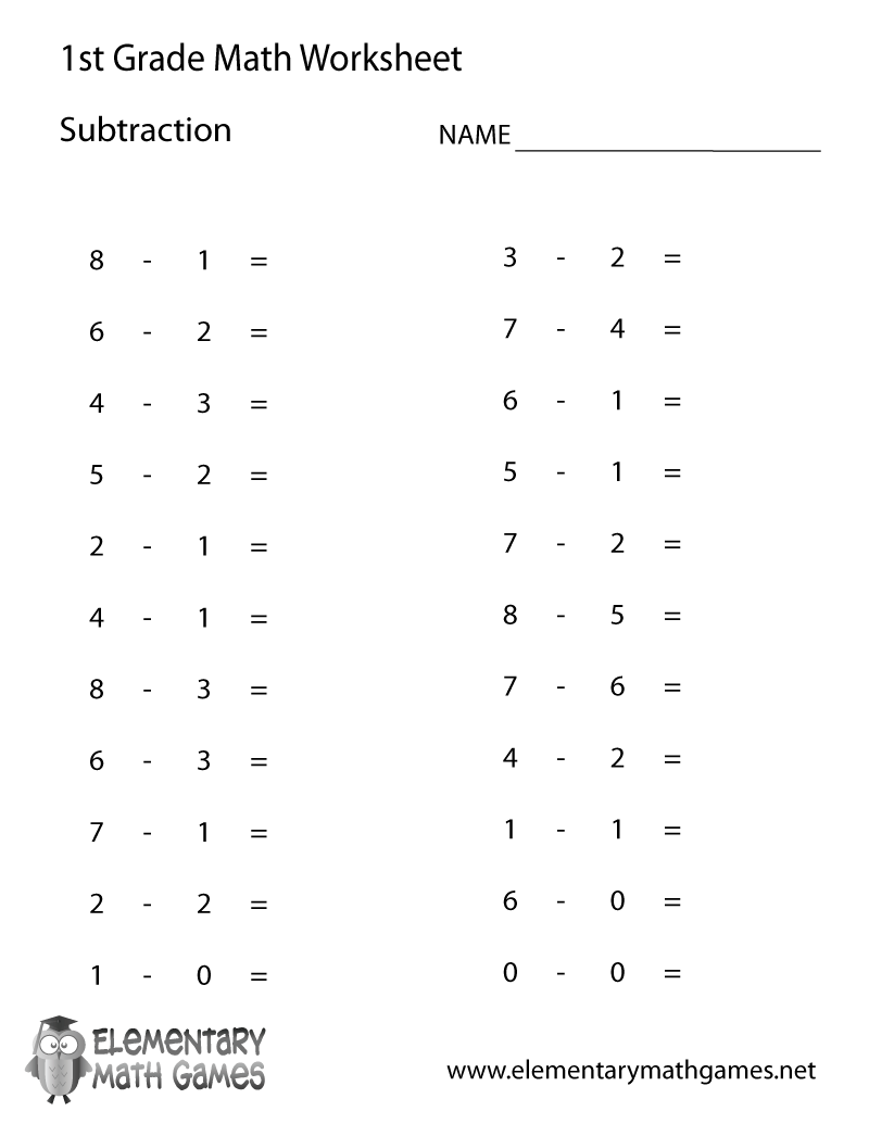 Free Printable Subtraction Worksheets For 2nd Grade Scalien – Free Printable Subtraction Worksheets for First Grade