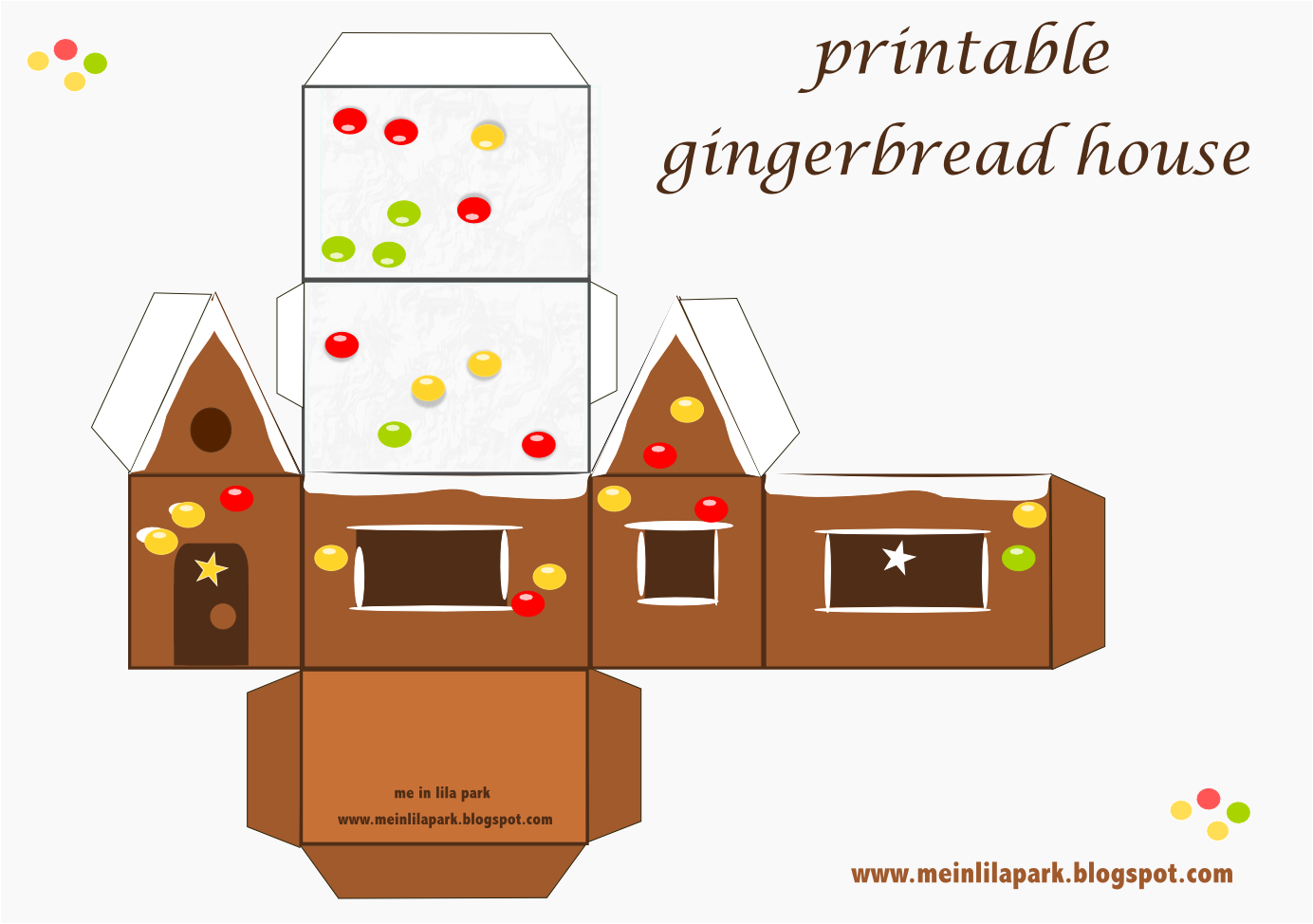 7 Images of Gingerbread House Printables