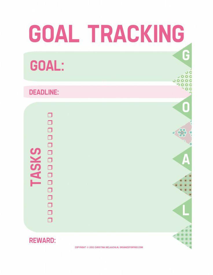 Free Printable Goals Worksheet