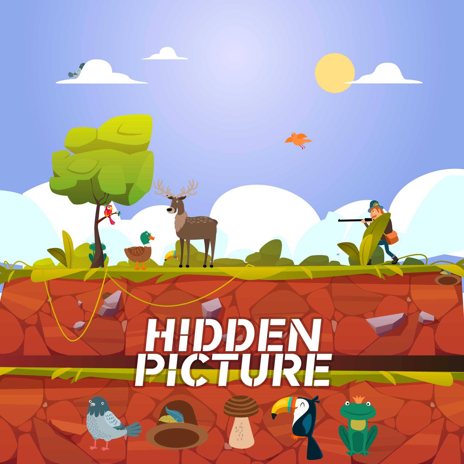 4 Images of Highlight Picture Hidden Objects Printable