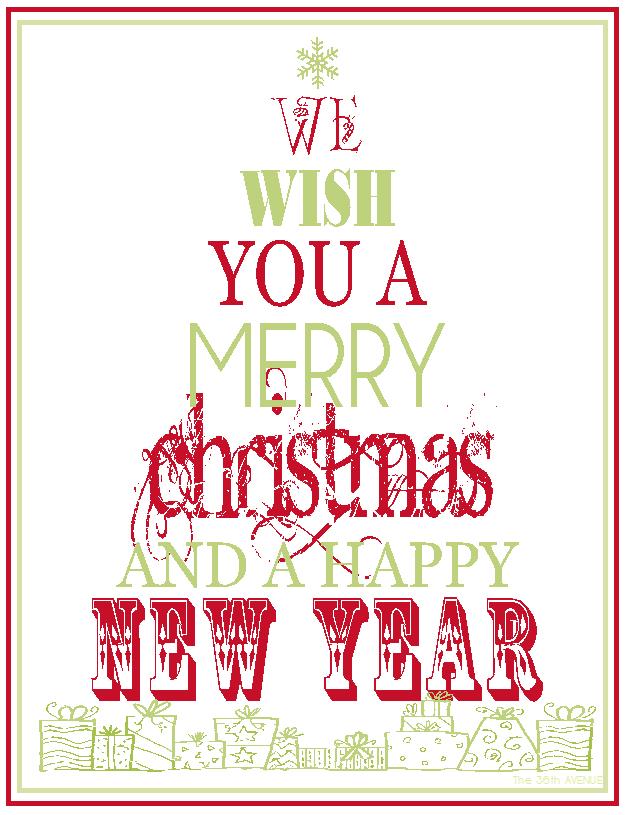 Printable Merry Christmas Signs
