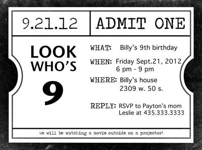 Movie Night Invitations Free Printable Movie Night Invitations – Movie Invitation Template Free