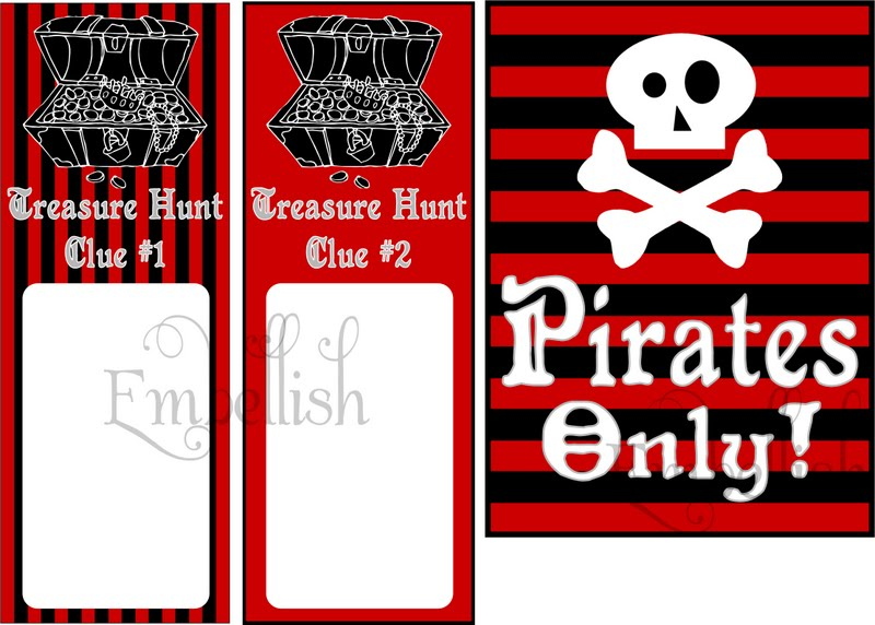 4 Images of Pirate Party Food Labels Free Printables