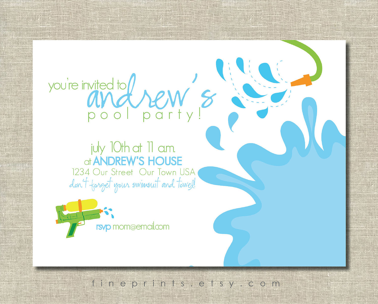 free printable pool party invitations   feliciaday, Party invitations