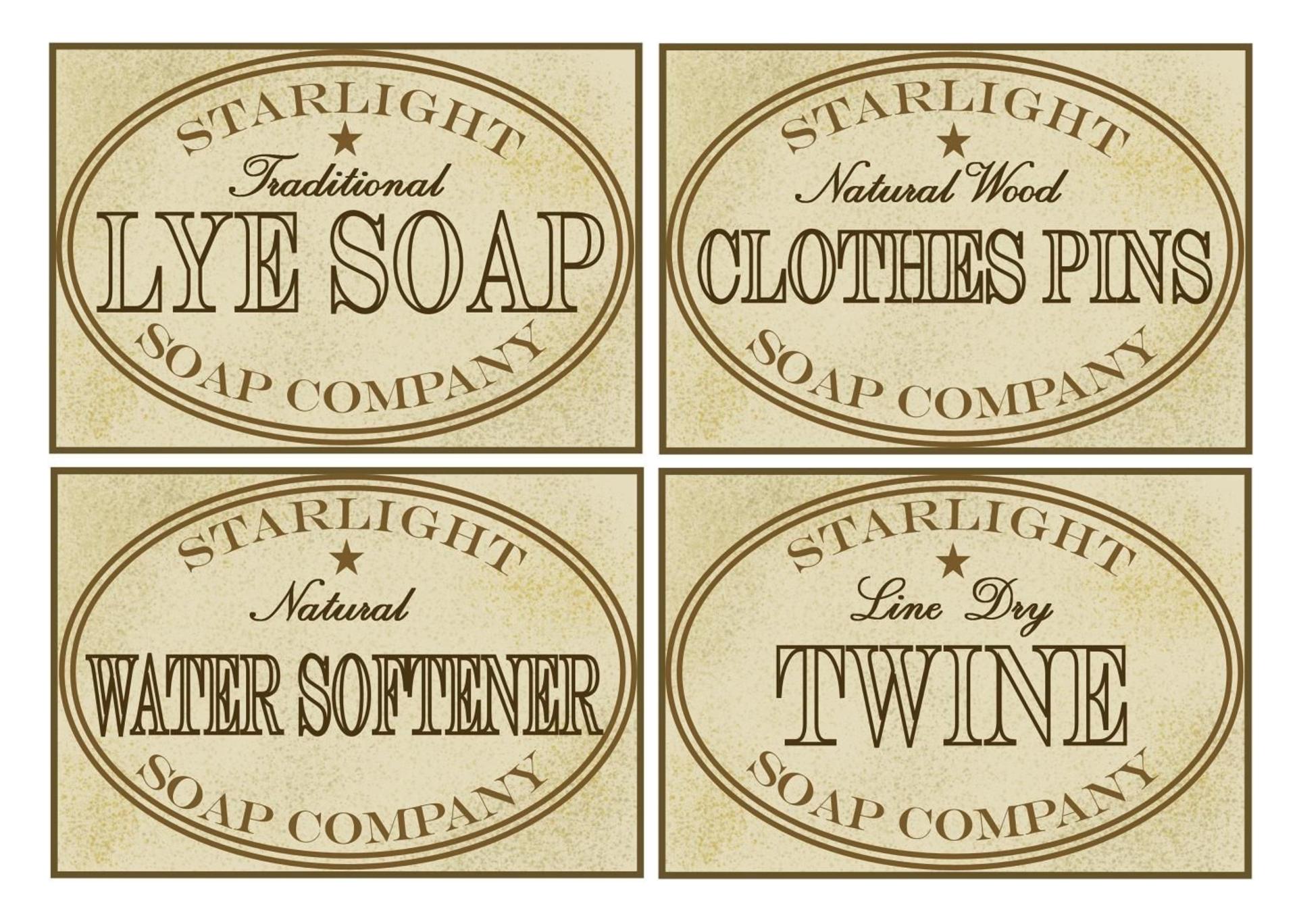 Printable Primitive Pantry Labels
