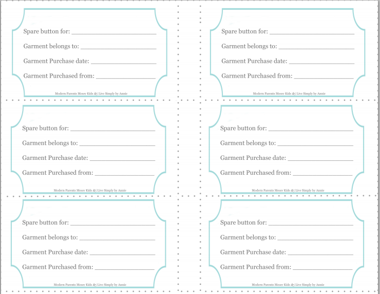 Free Printable Sewing Templates