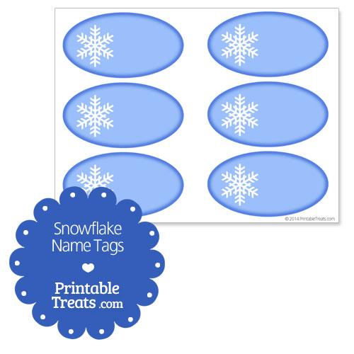 7 Images of Snowflake Name Tags Printable