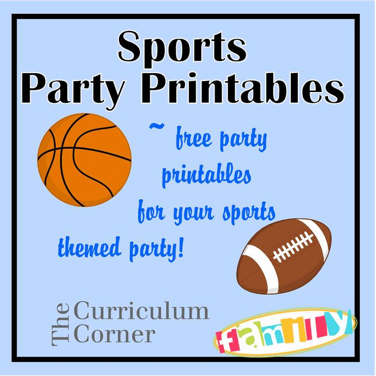 6 Images of Sports Party Printables