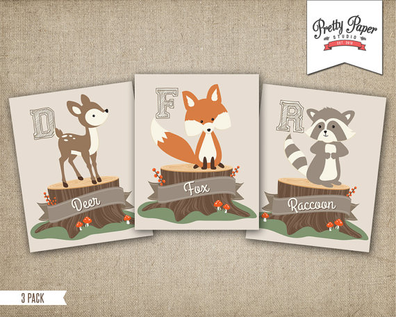 Free Printable Woodland Nursery Wall Art