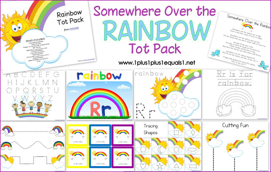 Free Rainbow Printables Preschool
