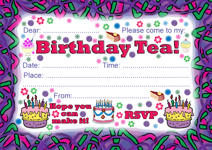 7 Images of Tea Party Birthday Invitations Printable
