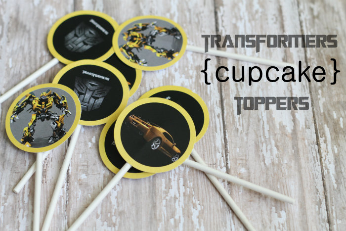 6 Images of Free Printable Transformers Cupcake Toppers